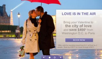 -OpenSkies, the unique all-business airline, is offering a special Valentine's Day discount.