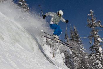 Stowe skiiing