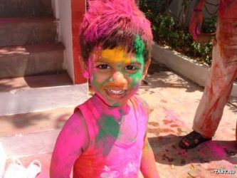 Painted 'Holi' boy