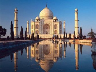 The Taj Mahal attracts thousands of domestic tourists each year