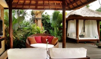 The living room at your villa