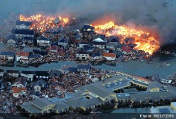 Tsunami damage in Japan after 8.9 magnitude earthquake