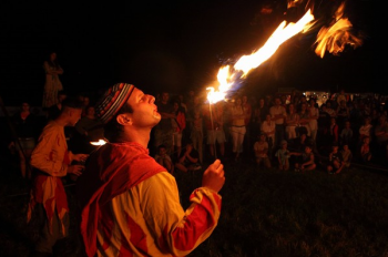 Plzeň's Historic Weekend - fire-breathers