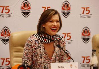 Milla Jovovich at Saturday's press conference