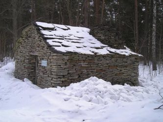 An classical Estonian home made from stone