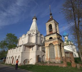 Pereslavl-Zalesskiy cathedral on the Golden Ring Route