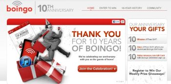 Boingo dot come celebrates 10 years.