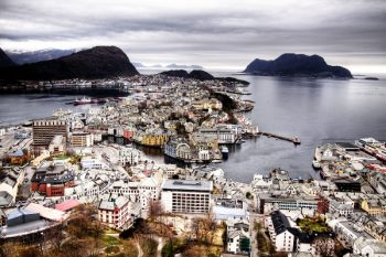 Ålesund, Norway, aerial view