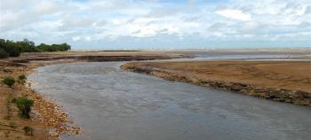 Rapid Creek at low tide