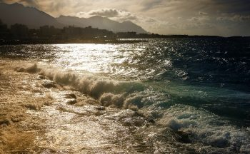 Sparkling seas off Girne, Cyprus