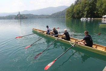 Getting ready on Lake Bled