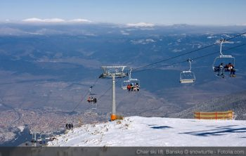 Chair ski lift