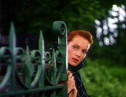 Maureen in The Quiet Man opening scenes.