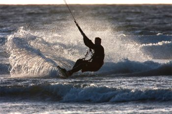 Kite surfing in the Atlantic