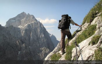 sierra trail in Julian Alps, Slovenia.