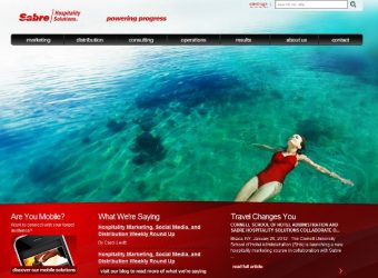 Sabre Solutions landing page