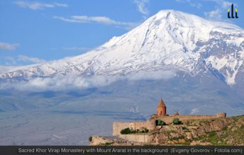 Sacred Khor Virap Monastery with Mount Ararat in the background