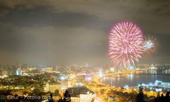 Fireworks in Baku, Azerbaijan