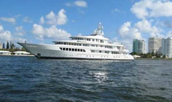 The luxury yacht Utopia
