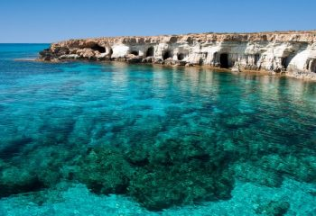 The beautiful waters off Cyprus