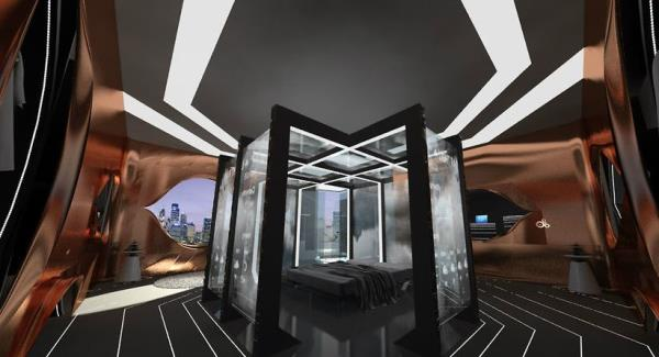 touchscreen walls featured in future hotel concept