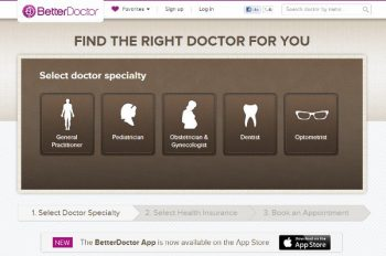 Better Doctor website landing