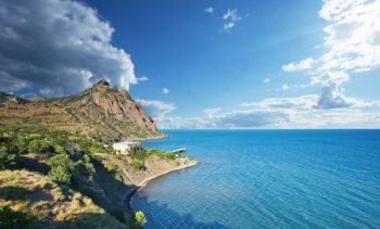 The extinct volcano Karadag in Crimea. Ukraine