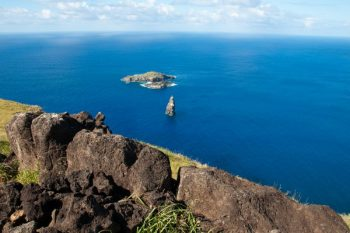 Easter Island view of the sea