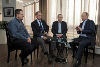 The Russia reality, Putin with Olympic officials
