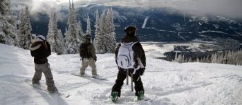 Snowboarders in Canada
