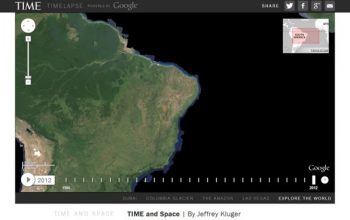 Google Earth Collaborates to Show Us Earth Timelapse