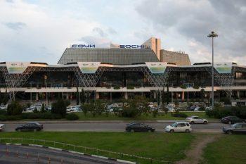Sochi Alder International Airport last weekend - Courtesy Nina Zotina