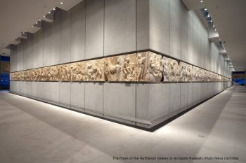 The frieze of the Parthenon Gallery © Acropolis Museum. Photo Nikos Daniilidis