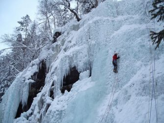 Norway ice climb Via subflux