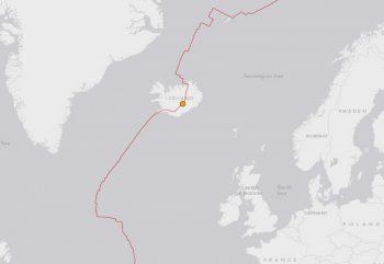 4.8 magniture 117km WNW of Hofn, Iceland 2014-08-22 01:50:22 UTC+02:003.9 - USGS