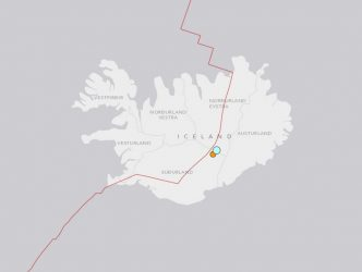 108km WNW of Hofn, Iceland via the USGS
