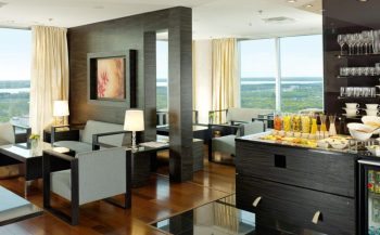 The Executive Lounge overlooking Tallinn.