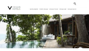 The Vegan Hotels landing page