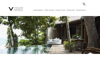 The Vegan Hotels landing page