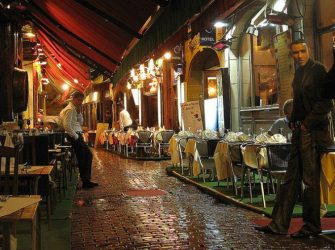 A deserted restaurant along Rue Boucherie Brussels - Courtesy Suvodeb Banerjee