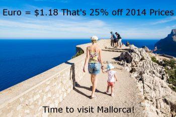 Euro's loss US tourist's gain