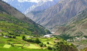 A Village near Trilokinath temple, Lahaul.