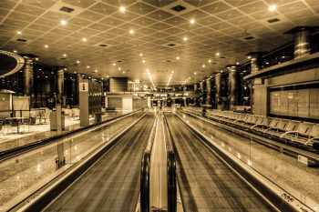 Empty Madrid Airport via Farzin Montazersadgh and FarzinPhoto