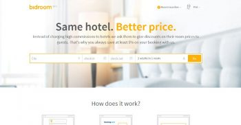 Bidroom landing page