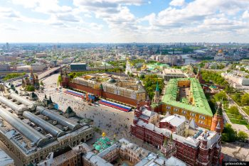 Red Square aerial view