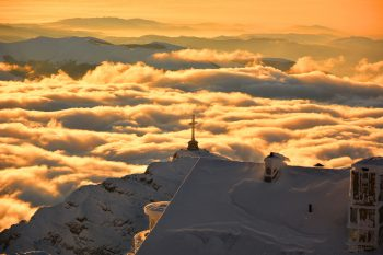 The Caraiman Peak is a mountain peak located in Romania, in the Bucegi Mountains of the Southern Carpathians.