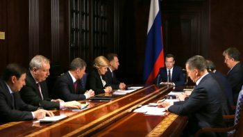 Dmitry Medvedev in a meeting with deputy prime ministers