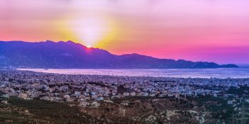 Heraklion at sunset