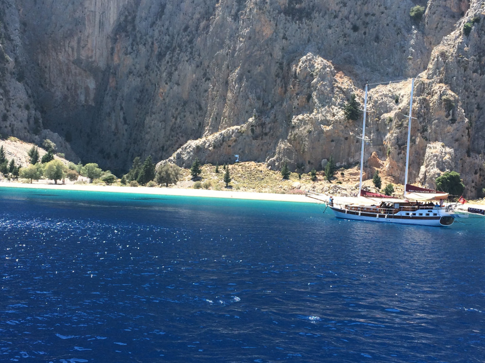 As you can see., this Salamander Voyages Private Gulet Charter yacht is under the Turkish flag - Courtesy Peter Cooke