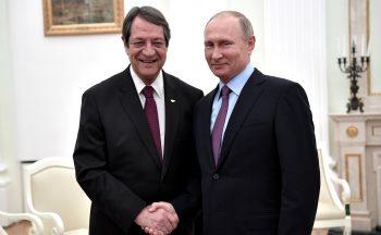 Nicos Anastasiades with Vladimir Putin